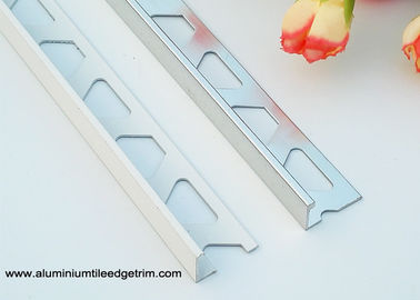 High End Aluminium Floor Trims L Shaped Angle 10mm Inside Height For Tile Edging