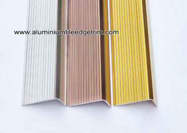Anti Slippery Aluminum Stair Nosing / Edging / Brace With 45mm X 20 mm