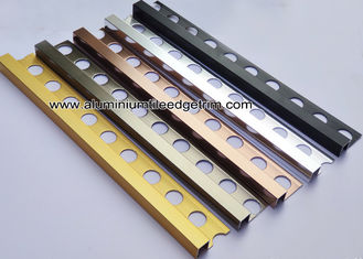 Square / Straight Edge Tile Edge Trim 8mm 9mm From Aluminum For Outside Corner